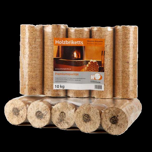 Tronchetto ecologico - Brichetto Holzindustrie Schweighofer in puro Abete
