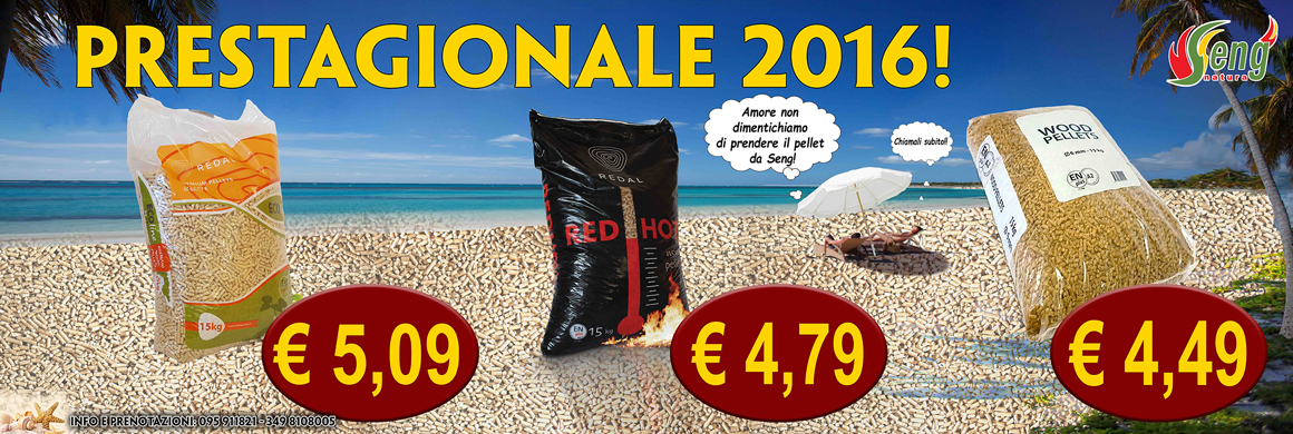 Offerte prestagionali pellets 2016