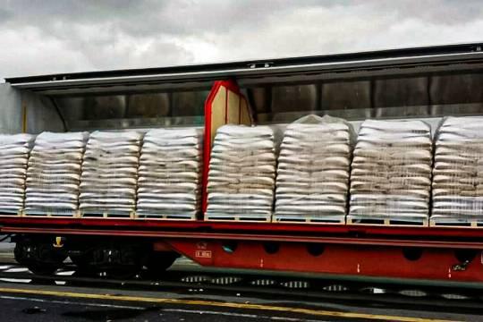 Trasporto e Consegna Vendita Pellet su rotaie