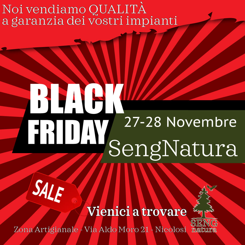Black Friday SengNatura e il Pellet in offerta
